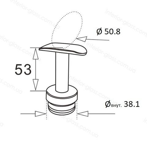 Верхний элемент стойки D=38,1 мм ST-424 с нерегулируемым ложементом