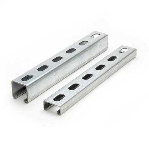Профиль C-образный 40x20x2000 мм, отверстие, сталь оцинкованная,  2м.