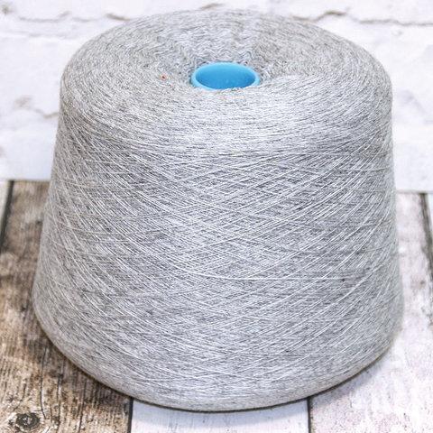 Смесовка с мериносом и кашемиром (10%) ALLIUM 1/15 светло-серый меланж
