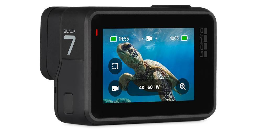 Видеокамера GoPro HERO7 Black Edition + SD Card (CHDSB-701) жк экран