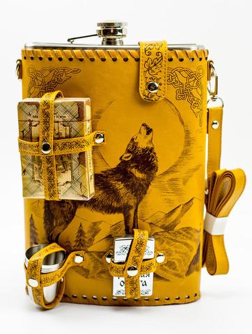 Фляга «Волк», набор 6 предметов, 1,9 л