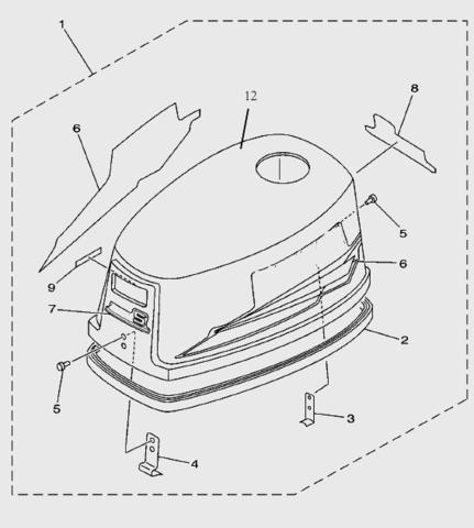 Втулка дейдвуда для лодочного мотора T5 Sea-PRO (10-46)