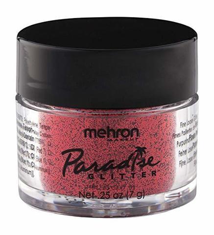 MEHRON Рассыпчатые блестки Paradise Glitter, Red (Красный), 7 г