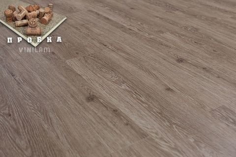 Кварц виниловый ламинат Vinilam New Prestige Gibrid Cork 04-018 Дуб Брюссель