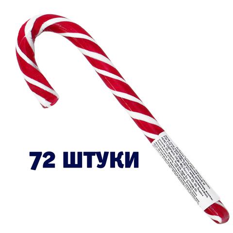 Леденец «Трость Новогодняя» ментоловая (блок 72 шт.)
