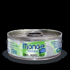 Monge Natural консервы для кошек с тунцом и курицей 80гр