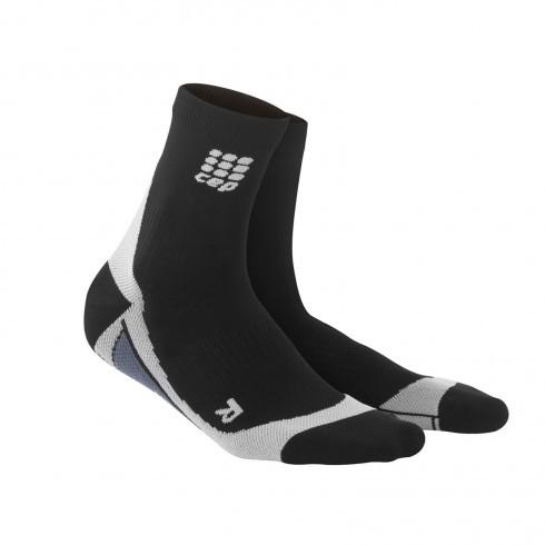 Для занятий спортом Функциональные носки CEP 6_cep_short_socks_black_grey.jpg