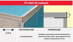 Профиль РП-АКП-04 (гибкий)