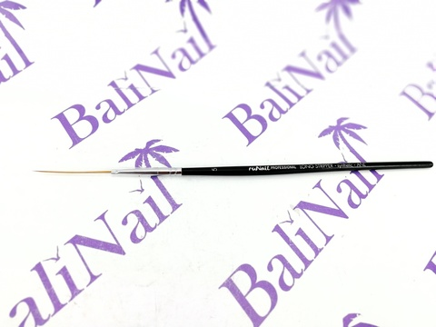 RuNail Кисть для дизайна Long Stripper Synthetic ANL №5
