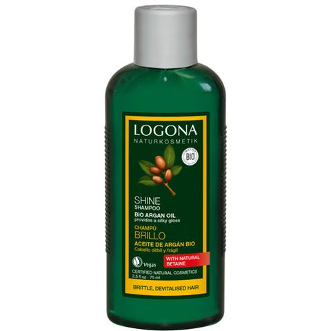 Шампунь для восстановления  блеска волос с Био-Аргановым маслом 250 мл (LOGONA)