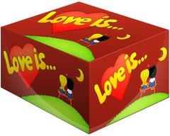 Блок жвачек Love is — Вишня-Лимон 100 шт.