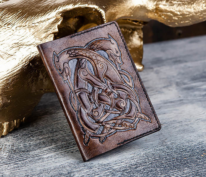 Boroda Design, Обложка на паспорт ручной работы с кельтским орнаментом