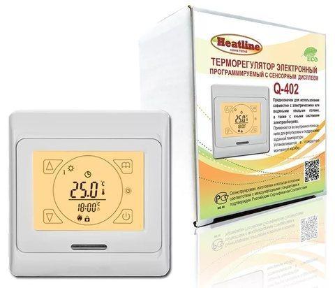 Терморегулятор Q-402, сенсорный, программируемый