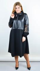Ванесса. Стильное платье плюс сайз. Черный.