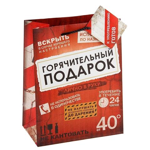 Пакет ламинат «Горячительный подарок», MS 18 х 23 х 10 см