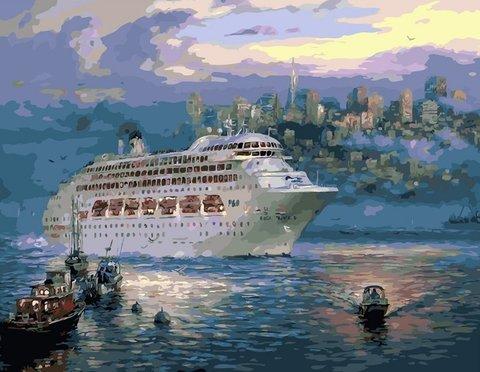 Картина раскраска по номерам 50x65 Морская жизнь