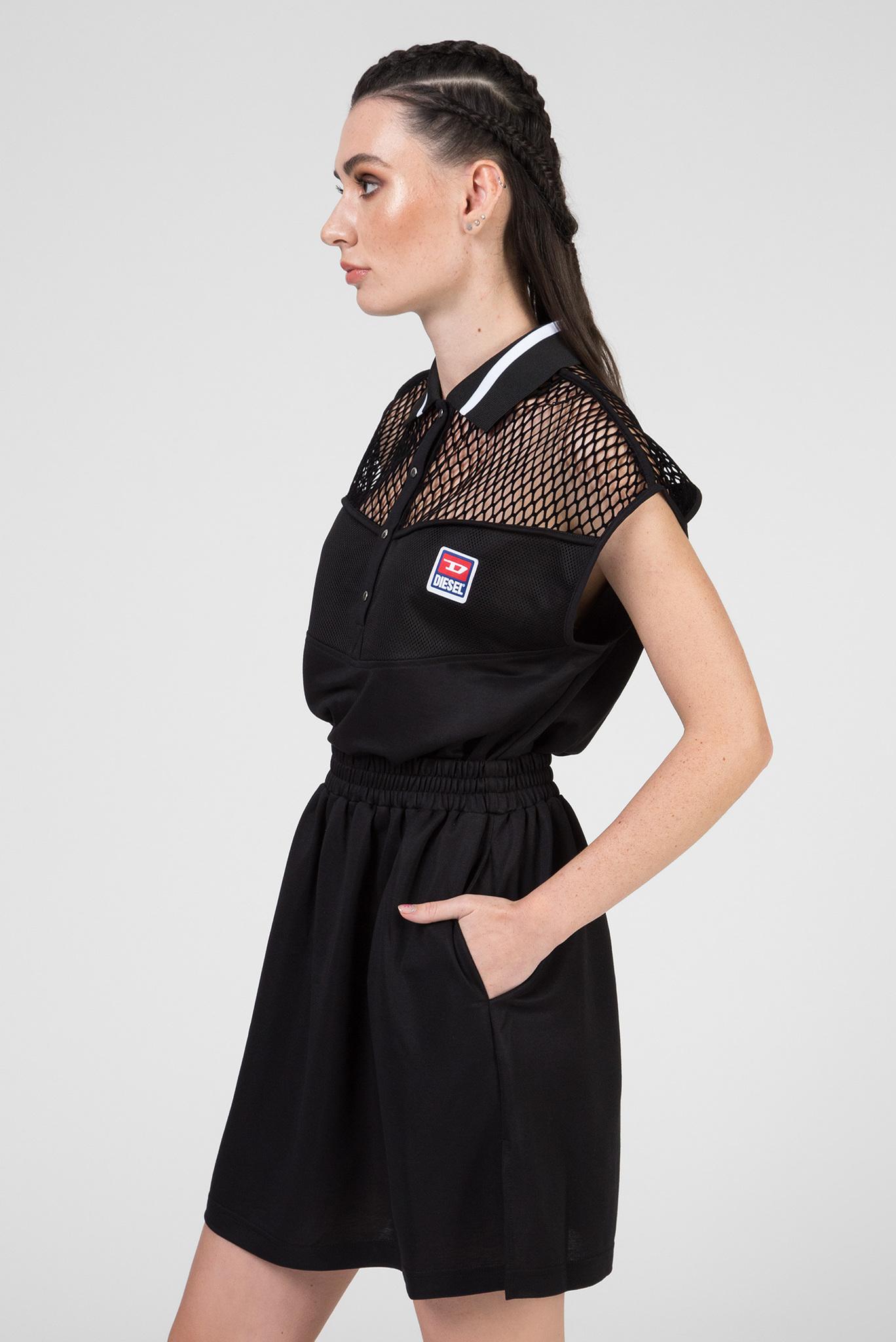 Женское черное платье-поло D-REIA ABITO Diesel