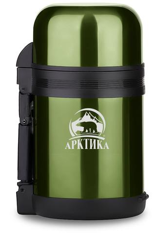 Уценка! Термос универсальный (для еды и напитков) Арктика (1 литр) с широким горлом, болотный
