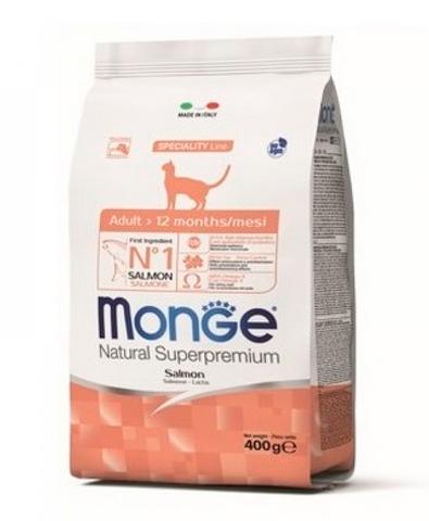 Monge Cat корм для взрослых кошек с лососем 1,5 кг