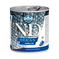 Фармина Ocean N&D 285 гр консервы для собак лосось с треской