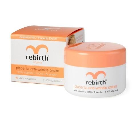 Крем с экстрактом плаценты, витамином Е и Ланолином Rebirth Placenta Anti-Wrinkle Cream 100мл