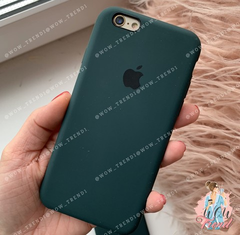 Чехол iPhone 6/6s Silicone Case /forest green/ зеленый лес 1:1
