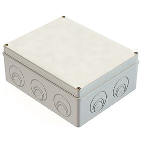 Распаячная коробка ОП 240х195х90мм, крышка, IP55, кабельные ввода d28-3 шт., d37-2 шт., TDM