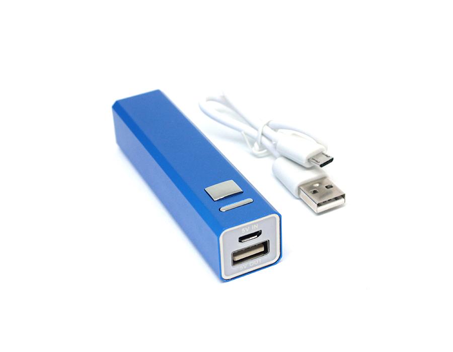 power bank в розницу 2200 mah внешний аккумулятор прямоугольный синий