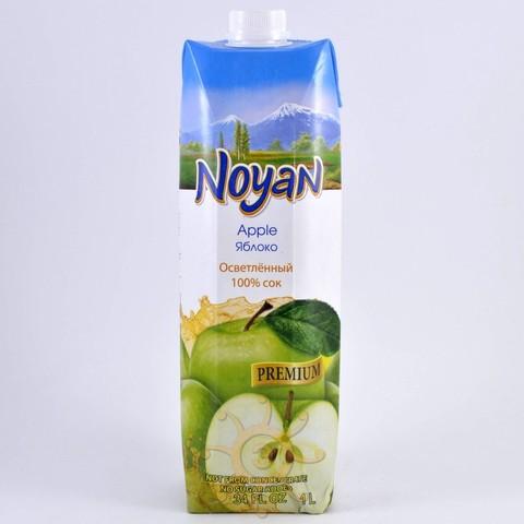 Сок яблочный осветленный без сахара Noyan, 1л