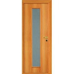 ОЛОВИ Дверное полотно ответная часть со стеклом миланский орех 300х2000мм L2 с фурнитурой