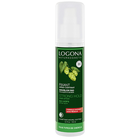 LOGONA Натуральный фиксирующий спрей-лак для волос
