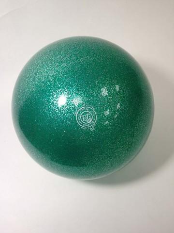 Мяч AMAYA 18,5 см бирюзовый флуоресцентный для художественной гимнастики