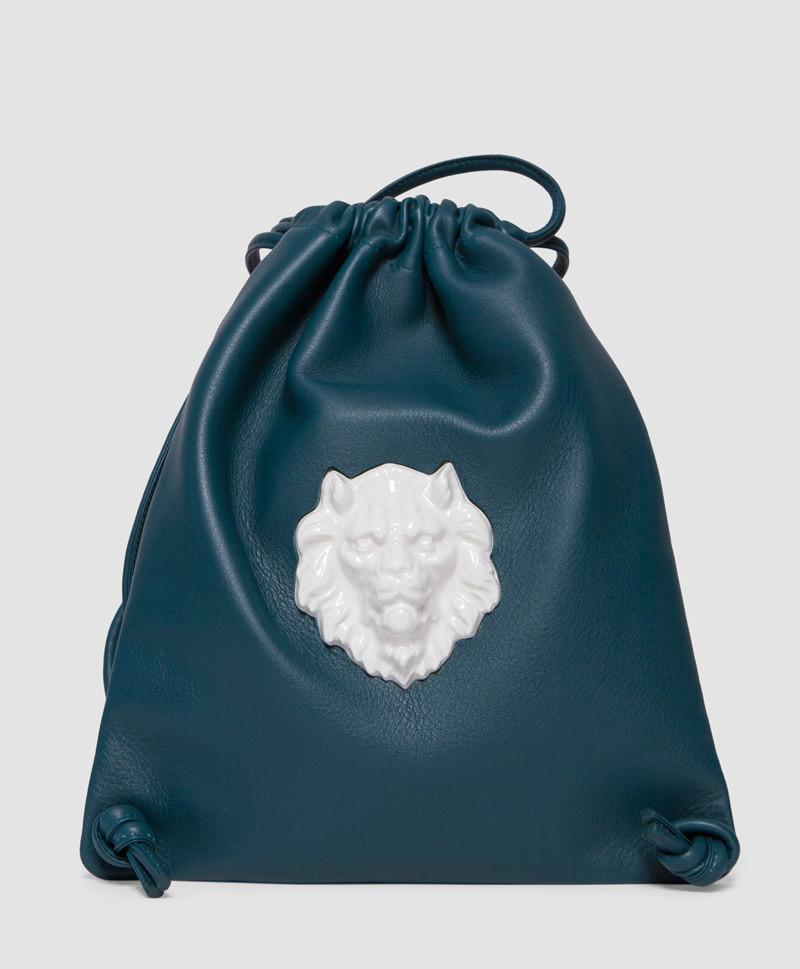 Рюкзак из кожи Lion Duck