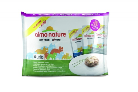 Набор паучей Almo Nature Multipack Classic Jelly Tuna