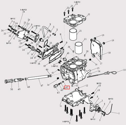 Клапан для лодочного мотора F9.8 Sea-PRO (3-42)