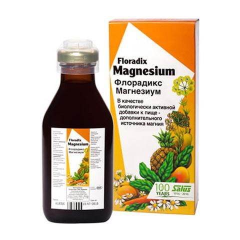 САЛЮС Флорадикс Магнезиум, 250 мл (в стеклянном флаконе, упакованном в картонную пачку)