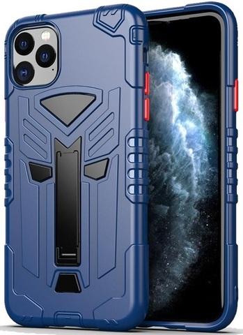 Чехол iPhone 11 Pro серии Dual X с магнитом и складной подставкой, синего цвета, Caseport