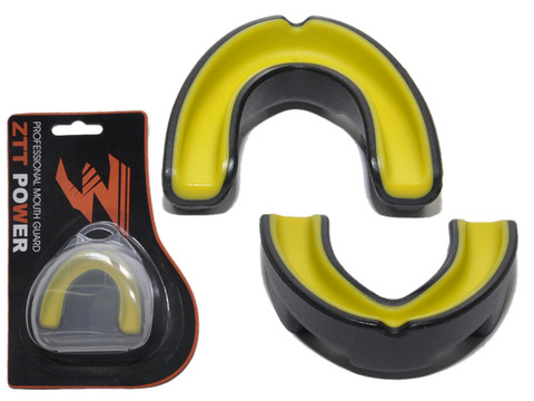 Капа боксёрская одночелюстная ZTT POWER. Применена технология двух слоёв с гелевым внутренним слоем. Капа имеет внутренний гелевый слой и гелевые подушечки для поглощения ударов. Упакована в индивидуальную пластиковую коробочку. MG-006