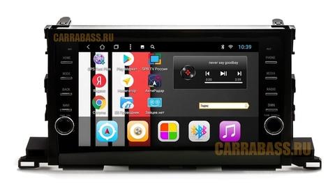 Головное устройство CarraBass CB-1003T8 Toyota Highlander 2014-2018 Android 8.1