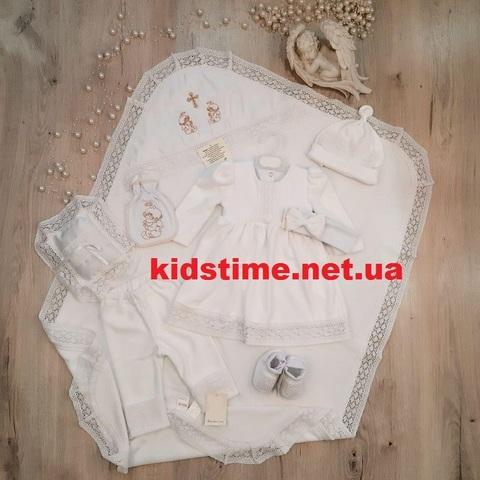 Крестильный набор для девочки Арина белый