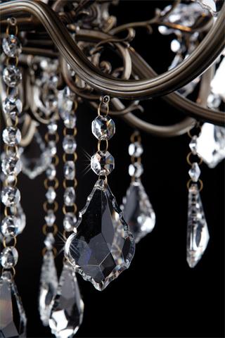 Люстра с хрусталем 3281/8 античная бронза / прозрачный хрусталь