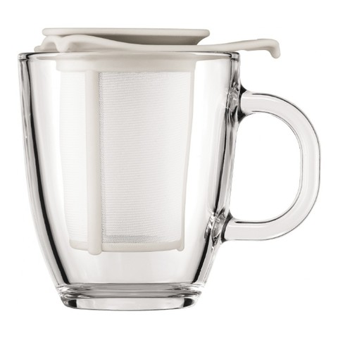 Набор Bodum Yo-Yo (кружка 0,35 литра + сито-фильтр), белый