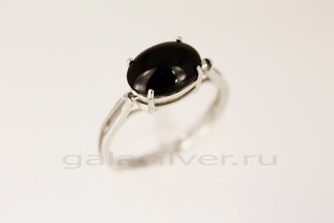 Кольцо с ониксом из серебра 925