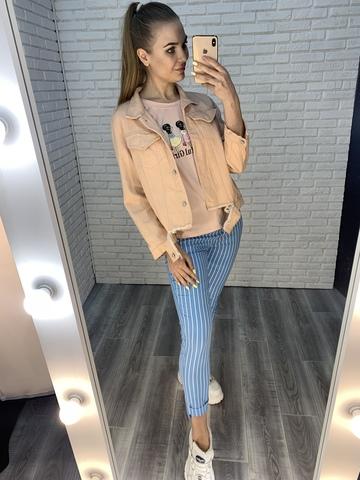розовая джинсовая куртка купить