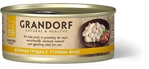 Купить консервы для кошек Грандорф с уткой