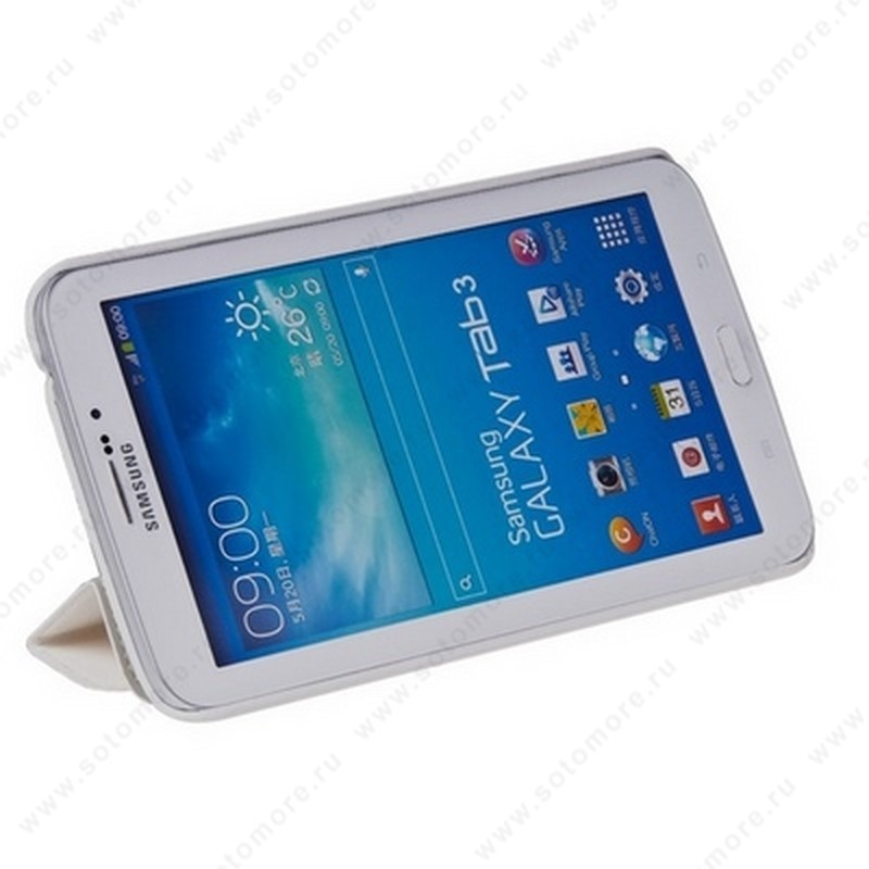 Чехол-книжка HOCO для Samsung Galaxy Tab 3 7.0 SM-T2100/ SM-T2110 - HOCO Crystal series Leather Case White