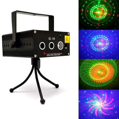 Трехцветная лазерная светомузыка Laser Stage HL-69, RG+B