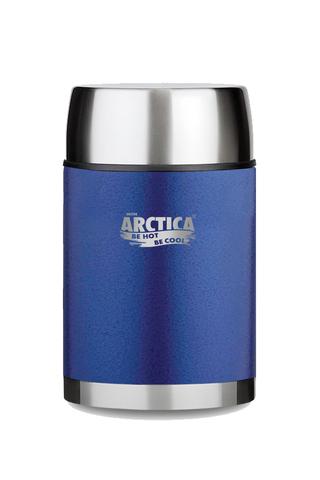 Термос для еды Арктика 0,6 л с супер-широким горлом, синий