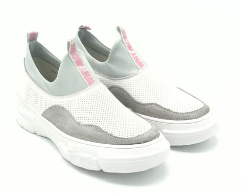 Кожаные кроссовки на платформе