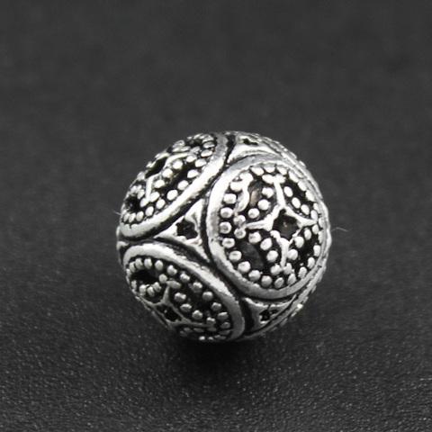 Бусина Азия 10 мм серебро 925